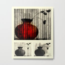 Vase Collage (focal) Metal Print