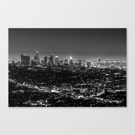 Black and White Los Angeles Canvas Print