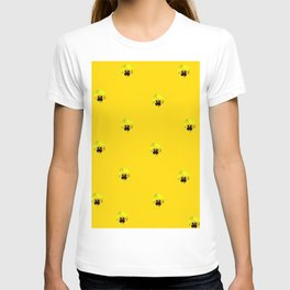 YELLOW  PANSY FLOWERS SPRINKLES GOLDEN YELLOW T-shirt