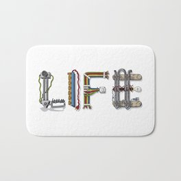 MACHINE LETTERS - LIFE Bath Mat