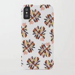 vintage floral pattern iPhone Case