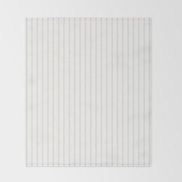 Classic Cream Pin Stripes on White Throw Blanket