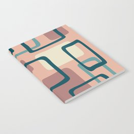 Mid Century Modern Abstract Squares Pattern 445 Notebook