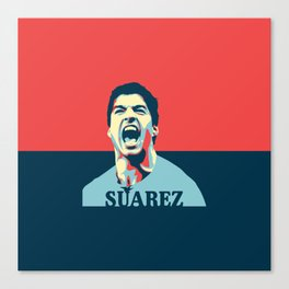 Luis Suarez, number one Uruguayan player. Canvas Print