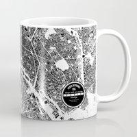 paris Mugs featuring PARIS by Maps Factory