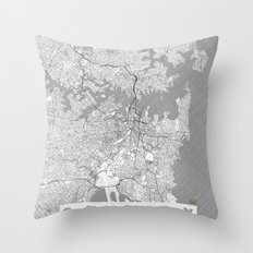 Sydney Map Line Throw Pillow