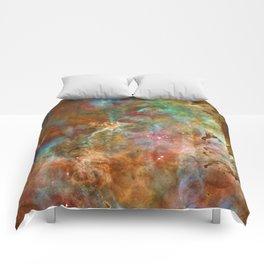 Mystic Mountains - Carina Nebula Astronomy Image Comforters