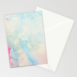 Watercolor abstract many colors  no.08 Stationery Cards