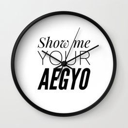 Show My Your Aegyo Wall Clock