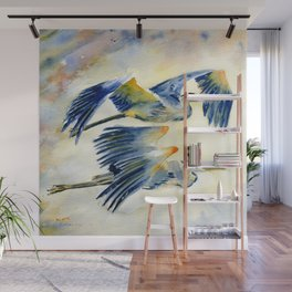 Flying Together - Great Blue Heron Wall Mural