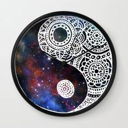 Galaxy Yin Yang Wall Clock