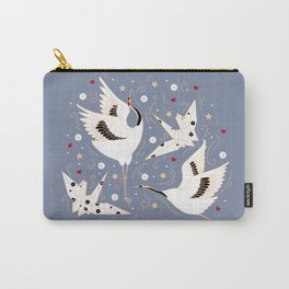 Origami Crane Metamorphosis (Blue) Carry-All Pouch
