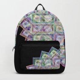 1 Billion Dollars Geometric Black Bling Cash Money Backpack