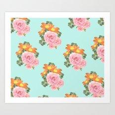 Summer Floral Print II Art Print