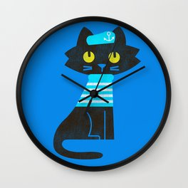 Fitz - Sailor cat Wall Clock