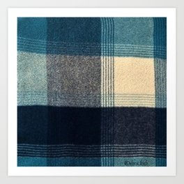 Abstract Flannel Art Print