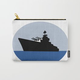 World War Two Battleship Destroyer Oval Retro Carry-All Pouch