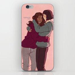 Girlfriends in hoodies iPhone Skin