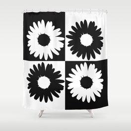 Checker Daisy Bouquet Shower Curtain