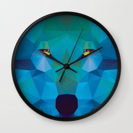 Wolf Crystallize 02 Wall Clock