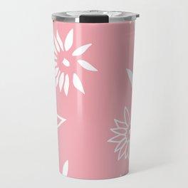 Powder Pink Floral Shapes 2 Travel Mug