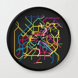 paris metro map Wall Clock