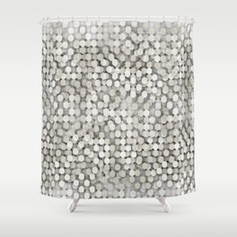 Hexagonal beige background Shower Curtain