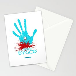 Touched by God (t shirt design) Stationery Cards