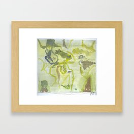 to the crocodiles Framed Art Print