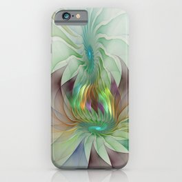 Colorful Shapes, Modern Fractals Art iPhone Case