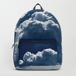 Puffy Cumulus clouds on Deep Blue Sky Backpack
