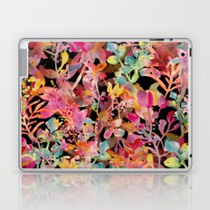 watercolor meadow black Laptop & iPad Skin