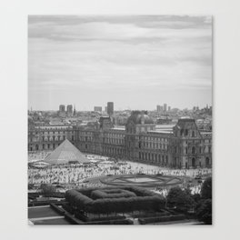 Postcard from Paris. Black and White Vintage Photography. Canvas Print