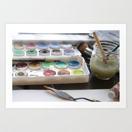 Watercolor Paint Palette Art Print