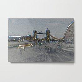 South Bank London Metal Print