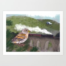 The Flying Car Art Print