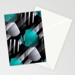 3D - abstraction -125- Stationery Cards