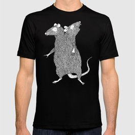 Two Headed Rat, I Love You T-shirt