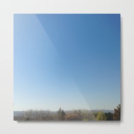 #116Photo #128 #Blue #Sky #Line / #Green #Cityscape Metal Print