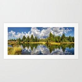 The Grand Tetons Panorama Art Print