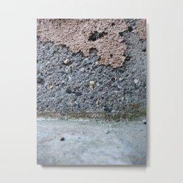 Brown Crumble Concrete Metal Print