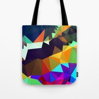 bands Tote Bags featuring harlequin bands by Tulipe Studio