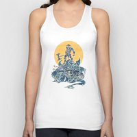 skyrim Tank Tops featuring The Dragon Slayer by Fanboy30