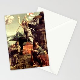 """Giovanni Antonio Boltraffio """"The Resurrection of Christ with the Saint Leonard of Noblac and Lucia"""" Stationery Cards"""