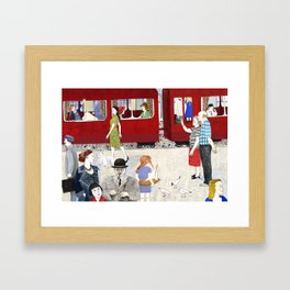 At the station Framed Art Print