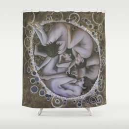 The Rebirth of Humanity Shower Curtain