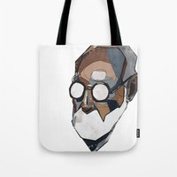 freud Tote Bags featuring Freud by PAFF