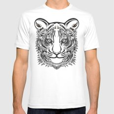 Nocturnal Predator White MEDIUM Mens Fitted Tee