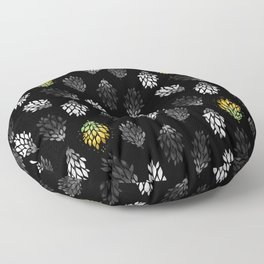 -Only few are gold- on black Floor Pillow