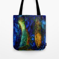 pi Tote Bags featuring PI by RingWaveArt